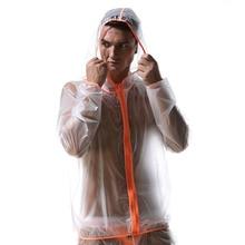 Waterproof Male Jackets Transparent Beach Sun proof Coat Sexy Men Novelty See Through Beachwear