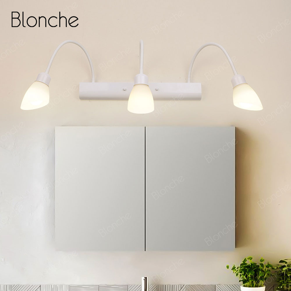 Bathroom Light Rotatable Led Wall Lamp Vanity Mirror Light Modern Glass Sconce for Home Indoor Deco Bedside Stairs Bedroom Lamp