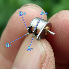 Шаговый двигатель точность двухфазный четырехпроводный миниатюрный 6 мм шаговый двигатель цифровая камера микро шаговый двигатель электрическое оборудование