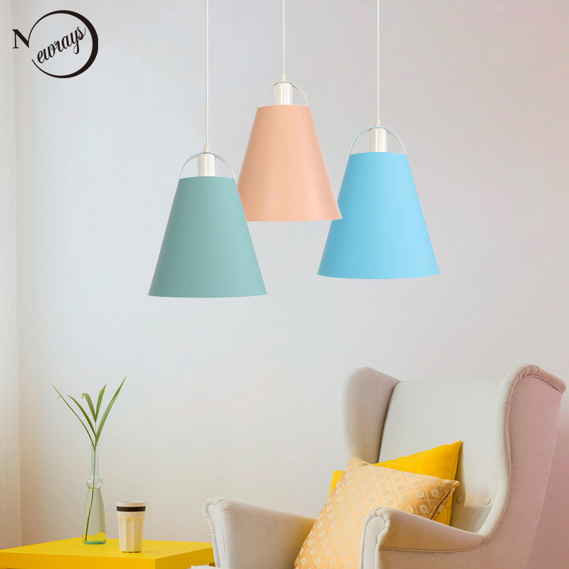 Industrail pastoral hanging lamp LED E27 home decor modern colorful pendant light for dining room bedroom study kitchen parlorIndustrail pastoral hanging lamp LED E27 home decor modern colorful pendant light for dining room bedroom study kitchen parlor