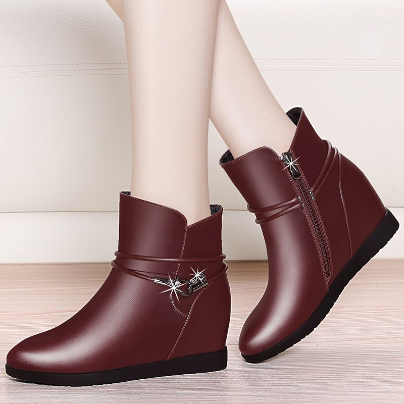 Brand Sheepskin Leather Casual Fashion Martin Boots For Women Shoes 2018 Autumn Business Ankle Boots Vintage Design YG B0020