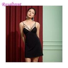 Elegant Women Full Slips Sexy Silk Strap Slip Dress Anti emptied Adjustable Underwear Inside Comfortable