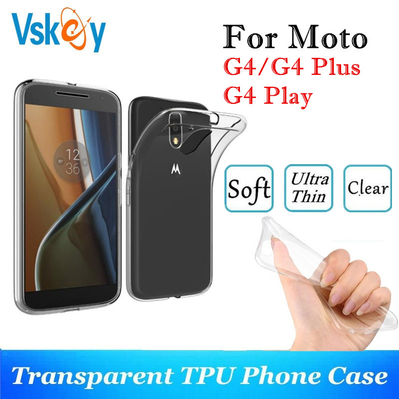 VSKEY 10PCS TPU Phone Case For Motorola Moto G4 Plus High Bright Transparent Clear G4 Play Ultra Thin Silicone Back Cover thumbnail