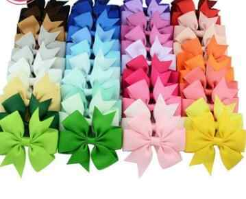 1 pcs Colors Solid Grosgrain Ribbon Bows Clips Hairpin Girl's hair bows Boutique Hair Clip Headware Kids Hair Accessories