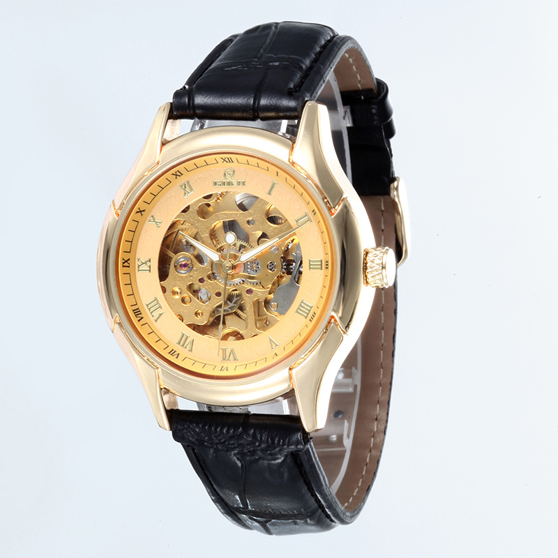 WHATCH WACHES Mechanical mens Automatic clock Men Fashion Leather 007 Watch top famous china brand waterproof
