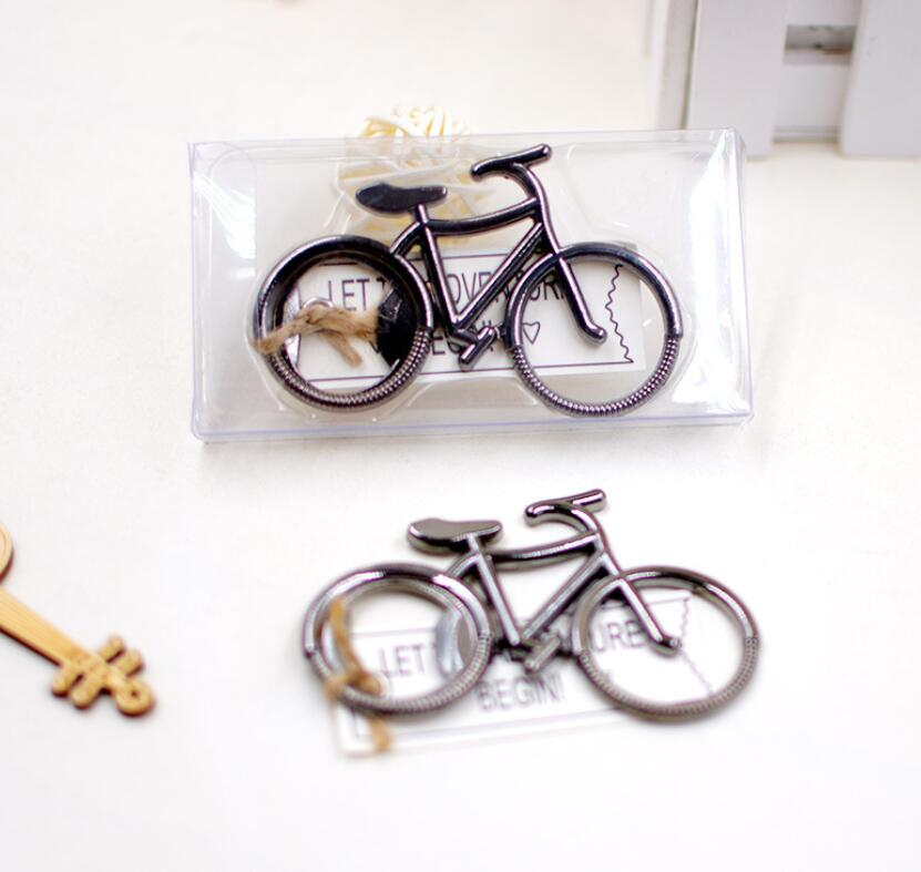 50pcs wedding favor gift giveaways-- Lets Go On an Adventure Bicycle Bottle Opener party favor souvenir bike bottle opener ...