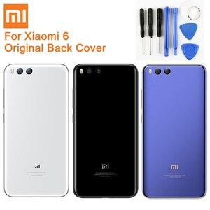 Image 1 - Original Glas Batterie Hinten Fall Für Xiaomi 6 Mi 6 Mi6 MCE16 Zurück Batterie Abdeckung Telefon Batterie Backshell Zurück Abdeckung fällen