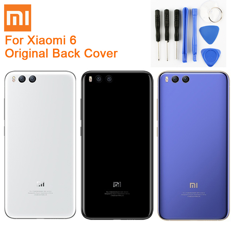 Original Glass Battery Rear Case For Xiaomi 6 Mi 6 Mi6 MCE16 Back Battery Cover font