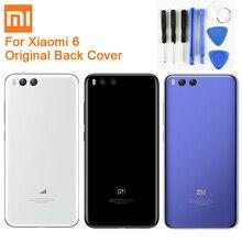 Originele Glas Batterij Case Achter Voor Xiaomi 6 Mi 6 Mi6 MCE16 Back Battery Cover Telefoon Batterij Backshell Back Cover gevallen