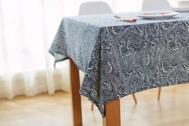 Traditional Chinese Rectangular Tablecloths Linen Cotton Table Cover Home  Blue Table Cloth Toalha De Mesa De