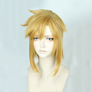 Image 2 - 젤다의 전설: 와일드 링크의 숨결 짧은 황금 금발 조랑말 꼬리 머리 코스프레 의상 가발 내열성 섬유 + 귀