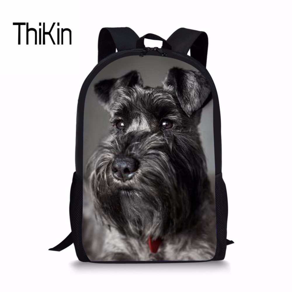 THIKIN Cute Schnauzer Printing Children Schoolbags For Girls Backpack Kids Book School Bag Primary Notebook Bag Sac Enfant 2018
