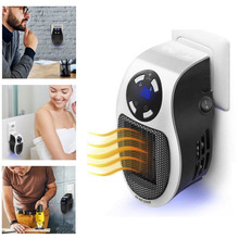 UK Plug Wall-Outlet Mini Electric Air Heater Powerful Warm Blower Fast Heater Fan Stove Radiator Room Warmer For Home Office 22% remote electric handy heater 10a 220v 500w fast heating mini desktop wall stove radiator warmer machine eu plug
