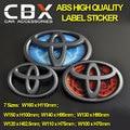 Emblema Carro modificado ABS de Alta Qualidade 3D Etiqueta Etiqueta Cinza para Corolla Crown Prado Alphard Prius Camry Reiz RAV4 7 tamanhos