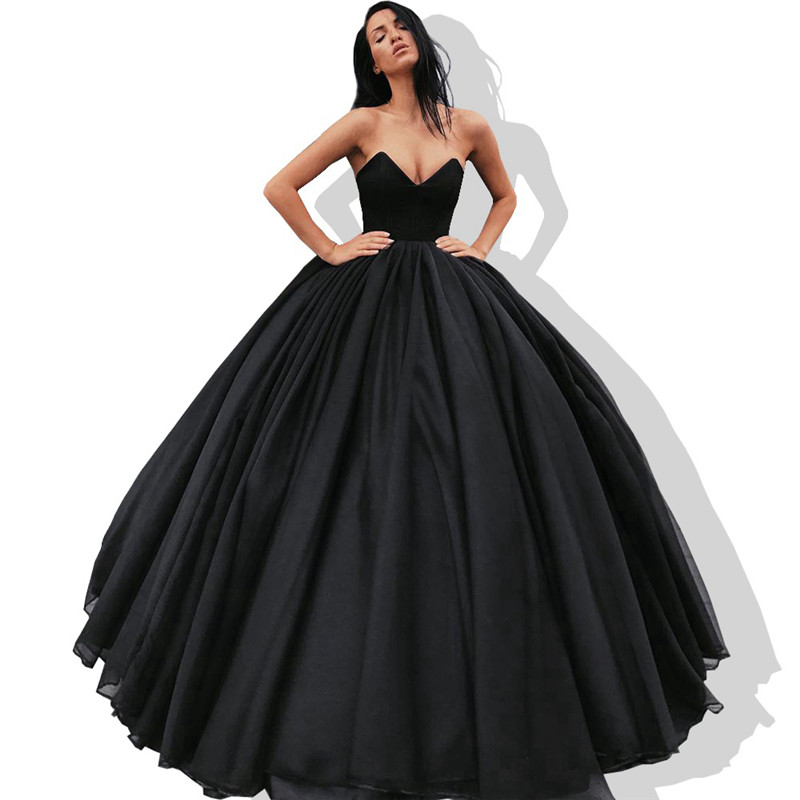 US $130.41 31% OFF|Sweetheart Ball Gown Quinceanera Dresses 2019 Ruffled  Tulle Vestidos de 15 anos Cheap Plus Size Black Sweet 16 Dresses Hot  Sale-in ...