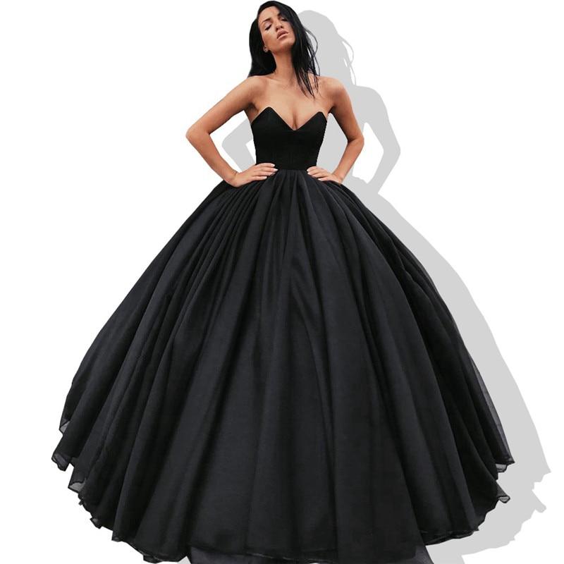 d66c1e204 Sweetheart Ball Gown Quinceanera Dresses 2019 Ruffled Tulle Vestidos de 15  anos Cheap Plus Size Black Sweet 16 Dresses Hot Sale