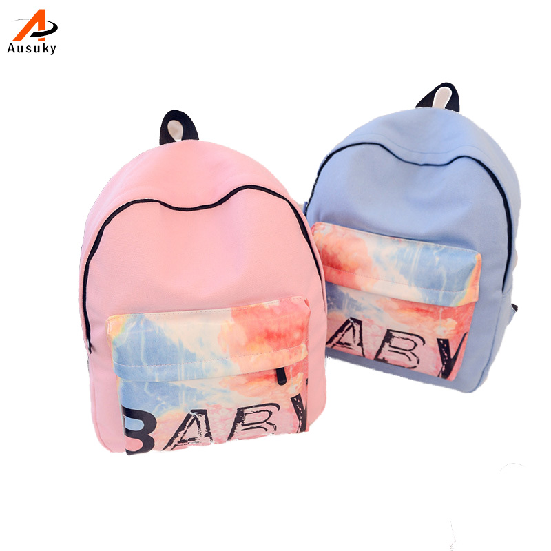 Rainbow Canvas Backpack Women  Backpacks For Teenage Girls Middle School Students School Bag mochila  escolar sac a dos 45 women backpack mochila backpack for travel sac a dos korean style backpacks for teenage girls high quality bag gift for new year