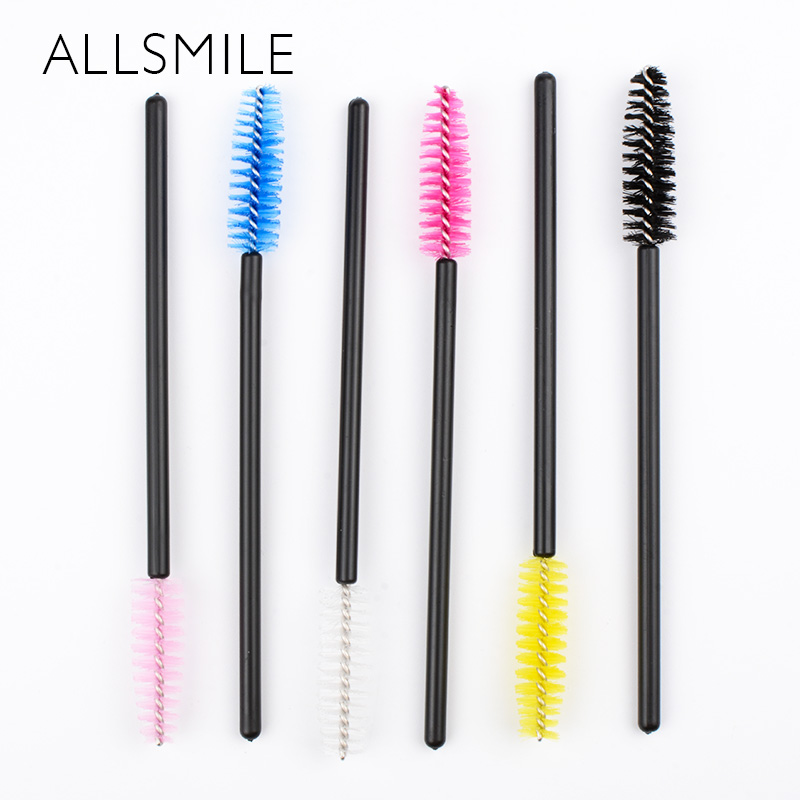 50pcs Disposable Extension Eyelash Individual Lash Removing Makeup Brushes Tool Individual Applicators Mascara Brush Cleaning 2016 new arrival black dual purpose eyelash assist device extension beauty supplies brow brush lash comb makeup brushes tools