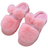 Slippers Women Winter Warm House Slippers Home Shoes Women Non-slip Soft Fur Indoor Slippers Plush Furry Chaussures Femme Slippers