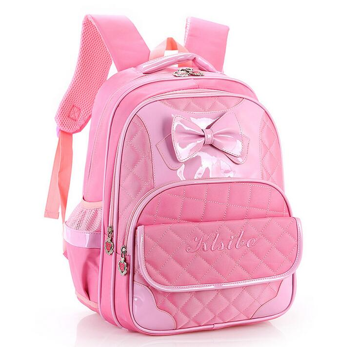 ФОТО Hot nylon Children's schoolbags carton Bow 3--6-grade girls cute backpack care burdens mochila for kids Princess school bags