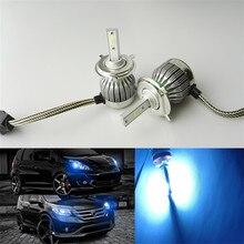 Na esperança de farol Do Carro Lâmpada de Gelo azul H4 30 W Auto Lâmpada do Farol 8000 K Luz COB fonte de luz