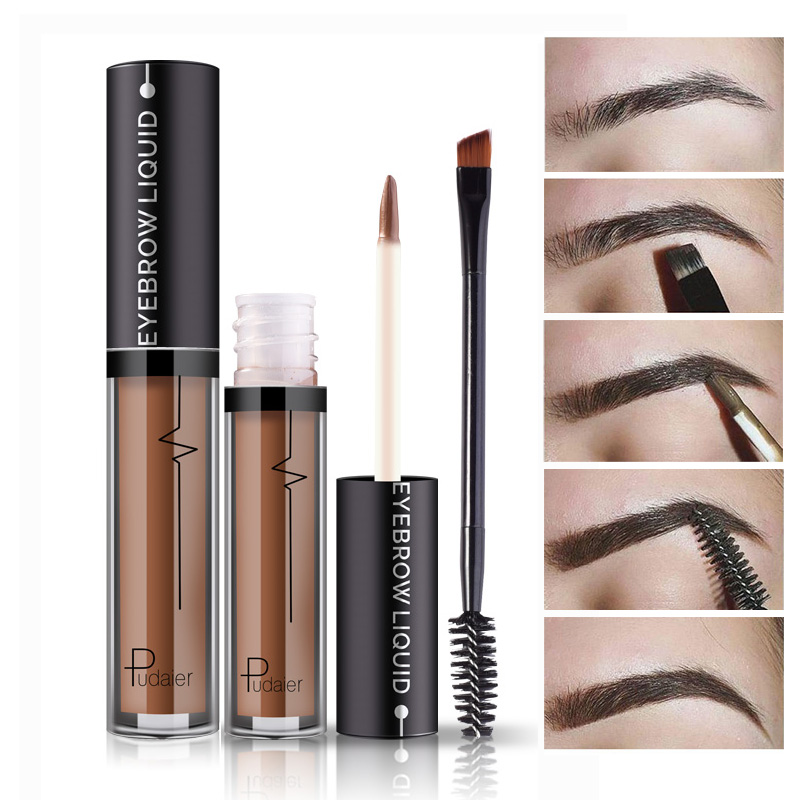 New Makeup Waterproof Eye Brow Tattoo Tint Brush Kits ...