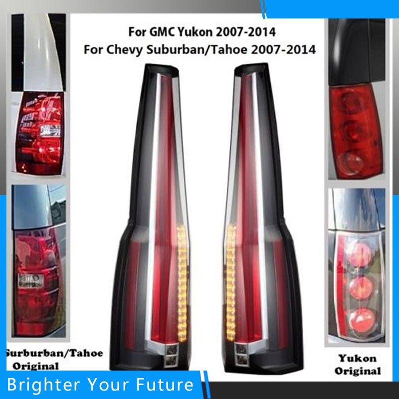Авто задние фонари заднего света для 2007 2014 GMC Yukon Chevrolet Tahoe Suburban Escalade Стиль сзади лампы стоп
