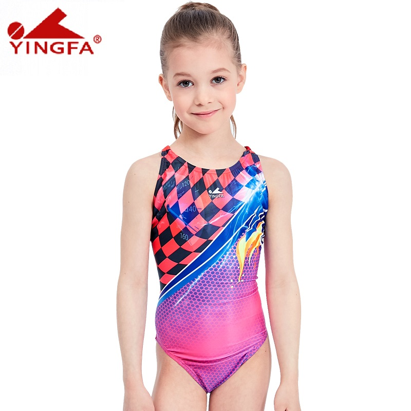 db8cbd2f99 Aliexpress.com : Buy Yingfa 2018 children swimwear kids swimming racing suit  competition swimsuits girls professional swim solid child from Reliable swim  ...