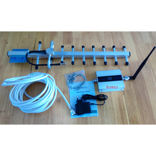 CDMA Signal Booster 850MHZ CDMA signal repeater cell phone signal booster amplifier with 9 unit yagi full set