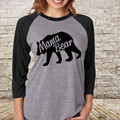 Long Sleeve Women Thick T-shirt Mama Bear Cotton Tops Casual Loose Pullover Tops