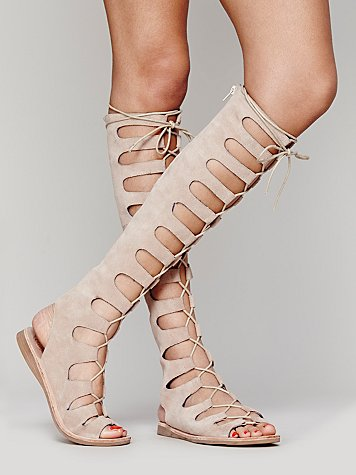 Lace Up Gladiator Sandals Boots Women Flat Heels Cut Outs Shoes Woman Roman Style Summer Suede Leather Sandals Boots Big Size phyanic 2017 gladiator sandals gold silver shoes woman summer platform wedges glitters creepers casual women shoes phy3323