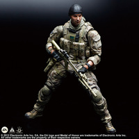 Play Arts KAI Medal of Honor Warfighter Tom Preacher PVC Action Figure Collectible Model Toy 25cm KT3127