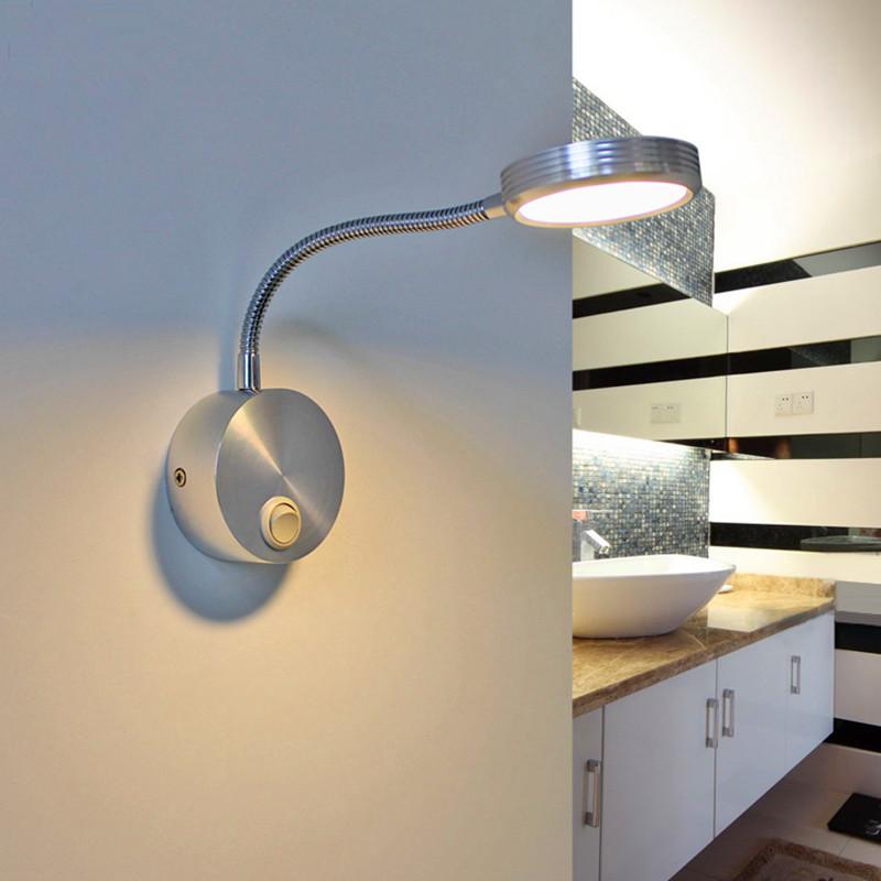 casa flexible w led lmparas de pared con interruptor de interior moderna de aluminio llev