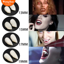 Hot Halloween Vampire Teeth Fangs Costume Kids Toys Decoration Plastic Fake with Glue Tweezers
