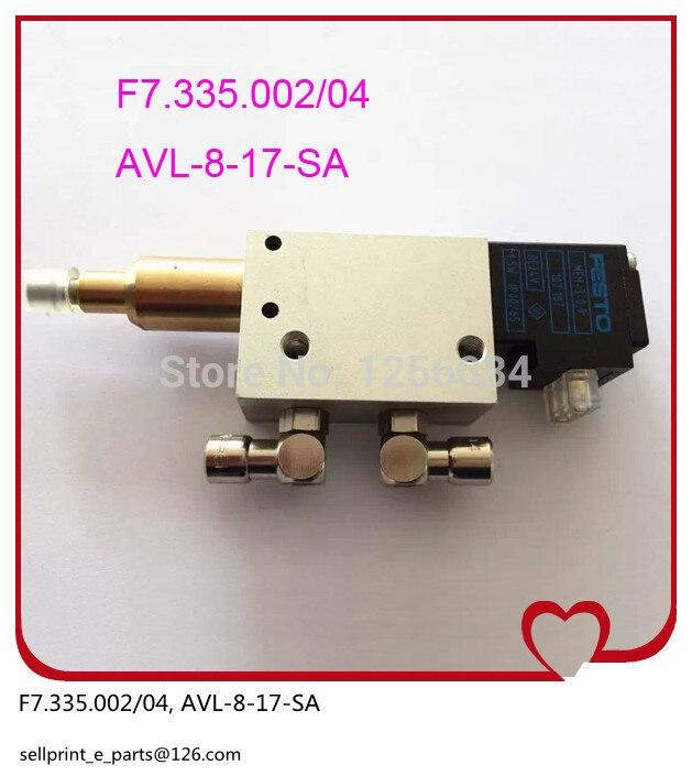 1 piece Former regulation solenoid valve F7.335.002/04, AVI-8-17-SA, valve for heidelberg SM102 AND CD102 machine F7.335.002 1 set heidelberg sm102 cd102 mo machine parts feeder valve for heidelberg 66 028 301f mv 026 847