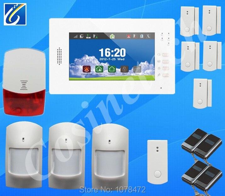 Klassische DIY GSM850/900/1800/1900 Mhz 868 MHZ alarmanlage mit detaillierten menü, freundliche schnittstelle, lithium-batterie Hause alarmzentrale