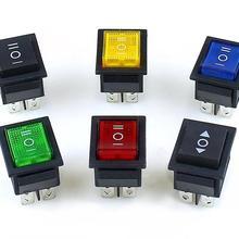 KCD4 3 положения 6 контактов вкл.-ВЫКЛ.-ВКЛ. 6 P прямоугольный поворотный переключатель с фиксацией 15A 250 В 20A 125 в черный красный зеленый синий желтый
