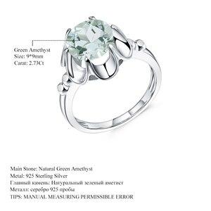 Image 5 - Gems Ballet 2.73Ct Natuurlijke Groene Amethist Engagement Ring Voor Vrouwen 925 Sterling Zilver Gemstone Vinger Ringen Fijne Sieraden
