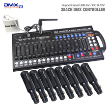 New Ultra thin 384ch DMX LED Controller Stage Lighting Controller Moving Head Console For DJ KTV Move RGB lamp