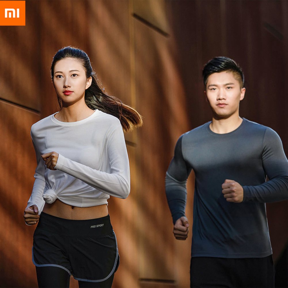 цена на Xiaomi 90 Unisex Women Men Round Neck Long Sleeve Bottoming Shirt Stretchable Breathable Undershirts Christmas Gift Smart Home