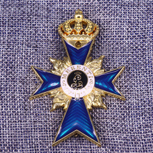 WWI немецкий баварский крест заслуг 1866 мечи MERENTI жетон еды