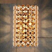 IWHD спальня Хрустальный светодиодный настенный светильник современная железная гостиная настенный светильник подсветка в ванную светильн