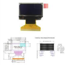 0,96 Zoll 128X64 Weiß OLED Display 128*64 LCD Screen Bord 30pin SSD1306 Fahrer Passive Matrix für arduino DIY Kit