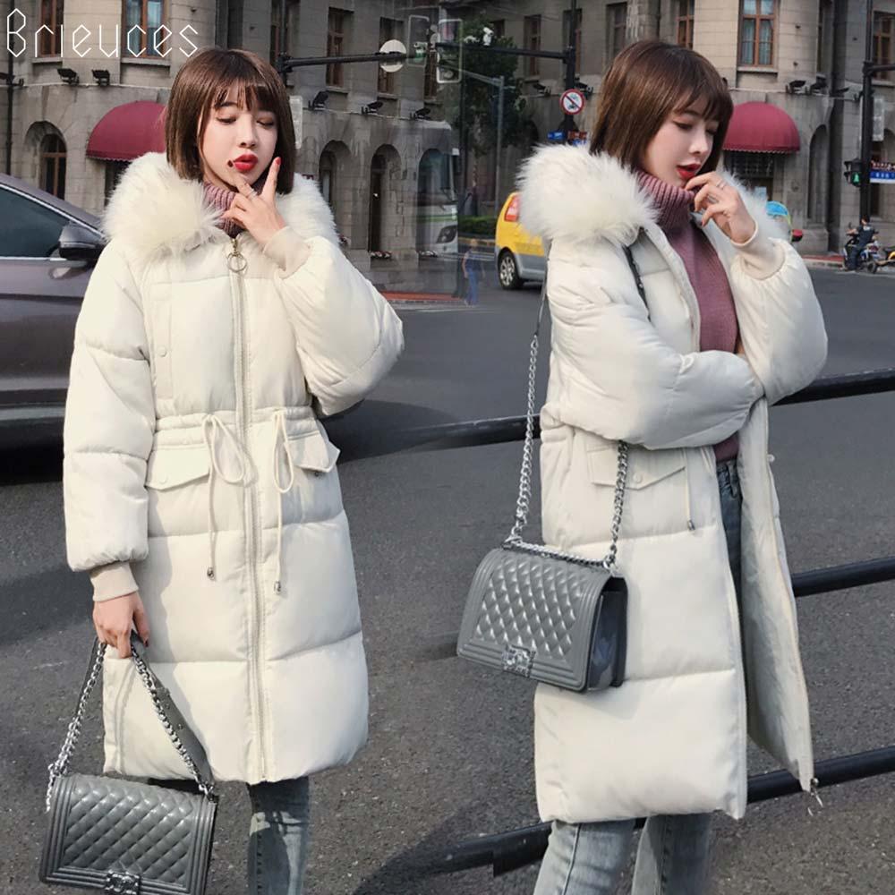 Brieuces Winter Jacket Women Plus size 2018 New Ukraine 3XL Womens Down Cotton Thicken Jackets Hooded Long Coat Female   Parka