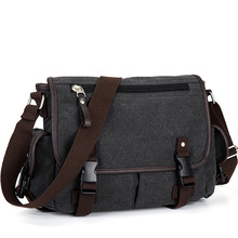 Vintage Mens Briefcases Shoulder Bag Travel Crossbody Bags Causal Canvas Messenger Bag Patchwork Multi function Laptop XA237ZC