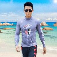 Man Woman Long Sleeve Beach Surfing TShirt Swimming Tops UPF 50+ Sun UV Protection Swimwear Rash Guard shirt women surf swimsuit