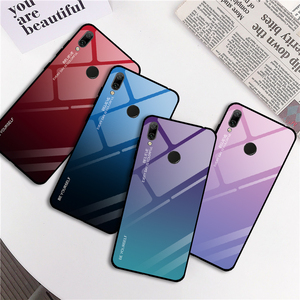 Image 2 - Gradient Phone Case For Honor 7A RU 5.45 7A Pro 7C Pro 5.99 Tempered Glass Case For Huawei Y9 Y6 Prime 2018 Y7 Prime 2019 Cases