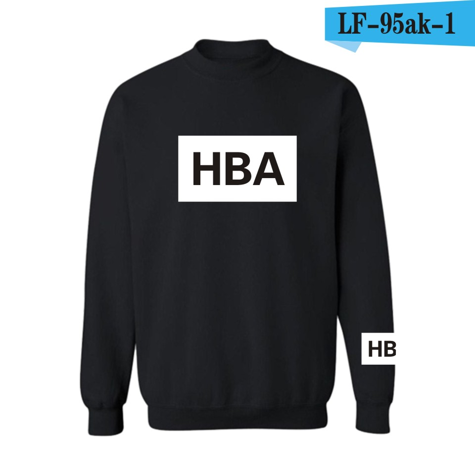 New Arrival HBA Print Fashion And Hip Hop Hoodies&Sweatshirts Black Men/Women  Style Cotton Funny Luxury In Plus Size 4XL