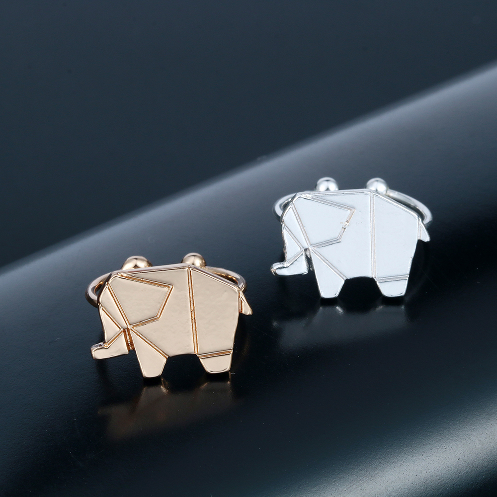 Origami Silver And Gold Elephant Ring