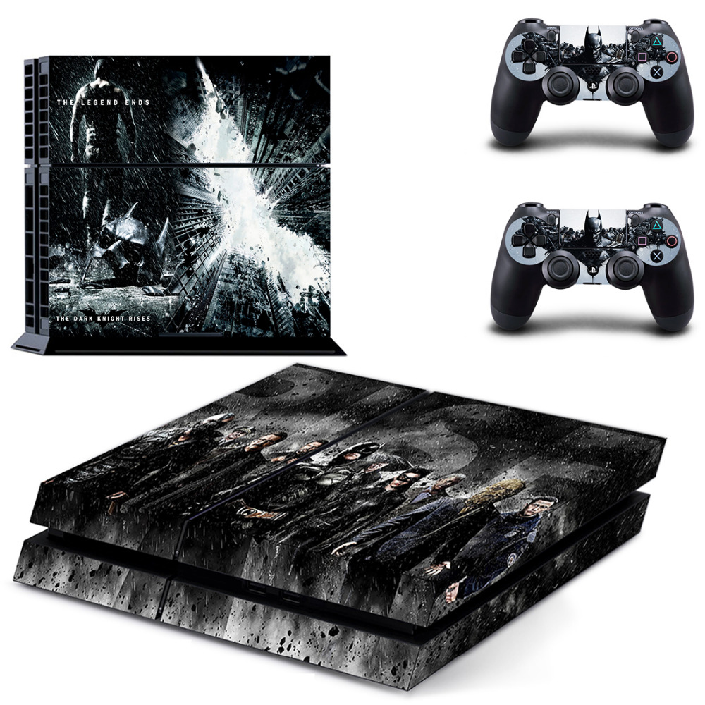Batman The Dark Knight Rises PS4 Skin Sticker Decal For Sony PlayStation 4 PS 4 Console and 2 Controllers PS4 Stickers Accessory